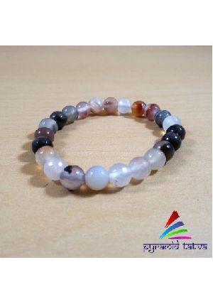 Multi Onyx Diamond Cut Bracelet