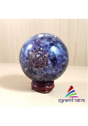 Natural Amethyst Orgone Ball