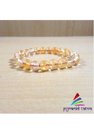 Natural Citrine Beads Bracelet