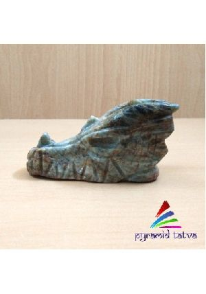 Natural Green Aqua Dragon Skull