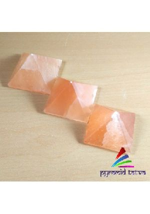 Orange Selenite Pyramid