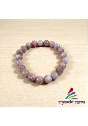 Peach Moonstone Bead Bracelet