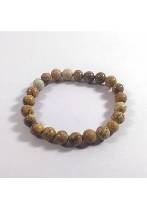 Picture Jasper Beads Bracelet