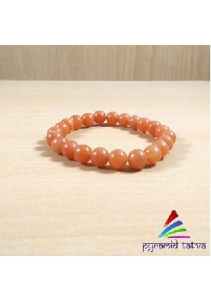 Red Aventurine Bead Bracelet