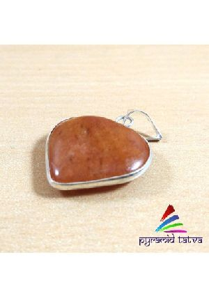 Red Aventurine Heart Pendant
