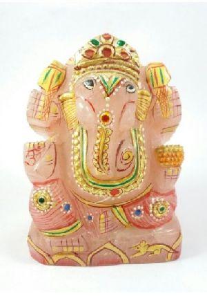Rose Quartz Ganesh 702 Gm