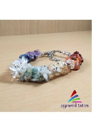 Seven Chakra Uncut Bracelet