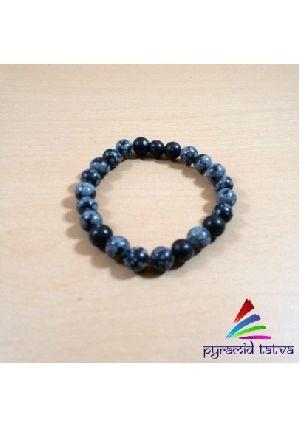 Snowflake Obsidian Beads Bracelet