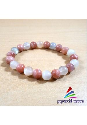 Sunstone With Moonstone Bead Bracelet