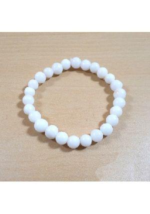 White Agate Beads Bracelet
