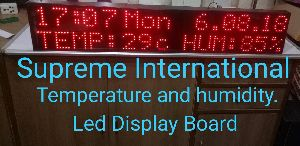 Temperature Humidity Led Display Board