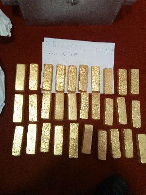 Raw gold bars