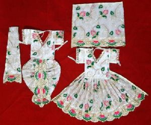 White Radha Krishna Dress