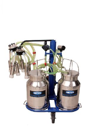 Double Bucket Electrical Milking Machine