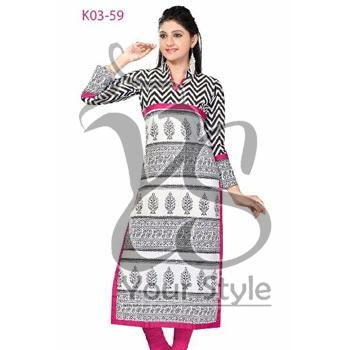 Women's Straight Cotton Kurta