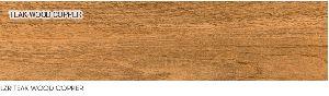 Vitrified Tile Teak Wood Copper