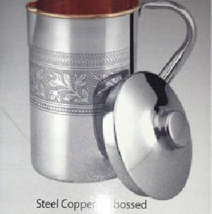 Copper Steel Embossed Jug