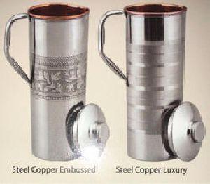 Copper Steel Embossed Luxury Jug