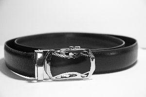 44-46 Inch Mens Black Leather Belt