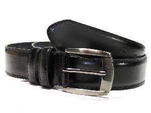 48 Inch Mens Black Leather Belt