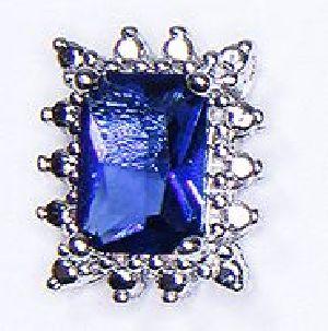 Sapphire Blue Stone Stud Earrings