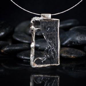Silver Plated Teardrop Pendant
