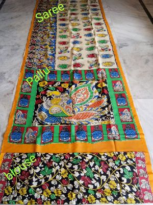 Madhubani Pantings-handmade Cotton Saree