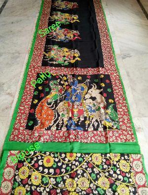 Madhubani Pantings-handmade Silk Sarees