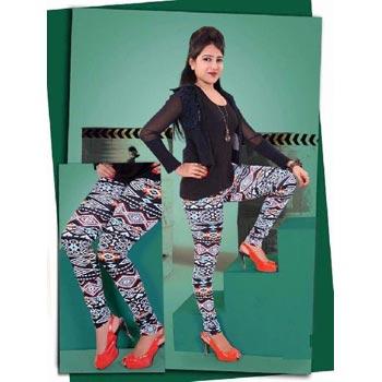 Ladies Printed Cotton Lycra Leggings