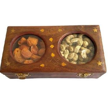 Wooden Rectangular Dry Fruit Box