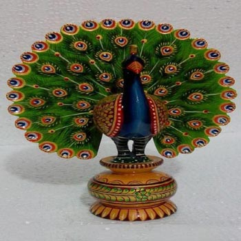 Wooden Dancing Peacock