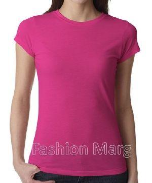 Ladies Plain Cotton T-shirts