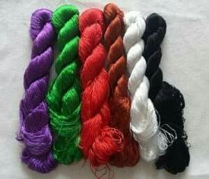 Colored Silk Yarn