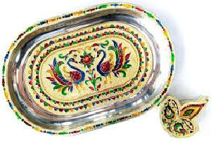 Decorative Meena Tray