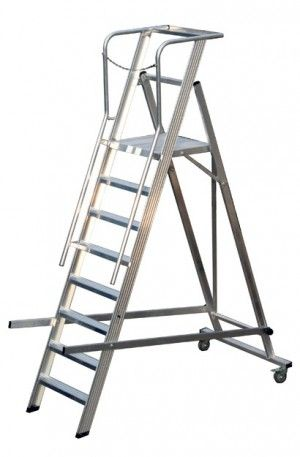 Warehouse Ladder Aluminium