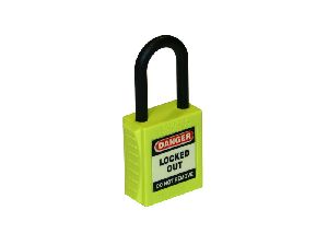nylon shackle safety padlock