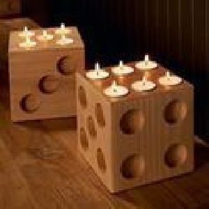 Wooden Tea Light Candle Holders