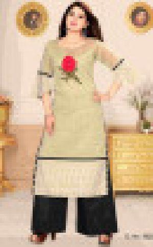 Grey Gdc3620 Vn Chiffon Gada New Readymade Salwar Suit