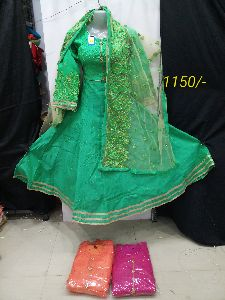 Ladies Designer Dress With Ghagra