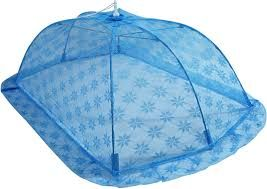 Blue Baby Printed Mosquito Net