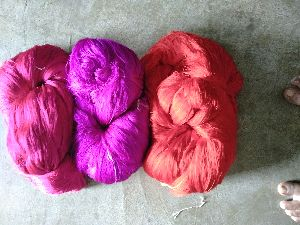 Twisted Coloured Silk Yarn