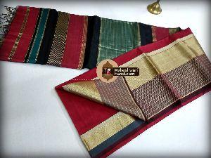 Lehar Border Silk Cotton Saree