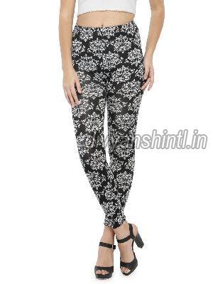 Ladies Printed Cotton Lycra Leggings 11
