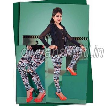 Ladies Printed Cotton Lycra Leggings
