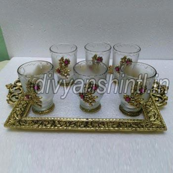 Glass Tray Set