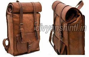 Leather Backpack Bag 01