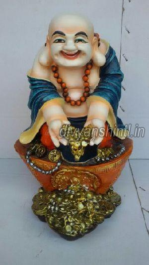 Marble Dust Laughing Buddha Statue 01