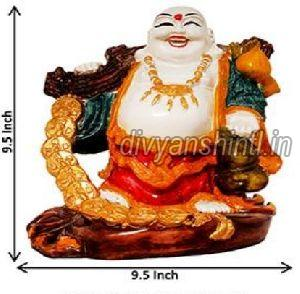 Marble Dust Laughing Buddha Statue 03