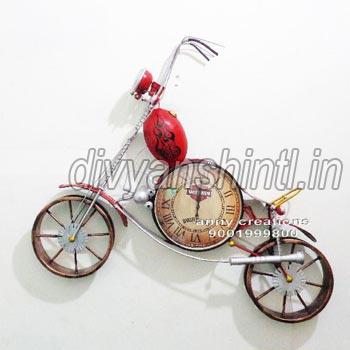 Metal Bike Clock