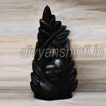 Black Stone Tree Man Statue
